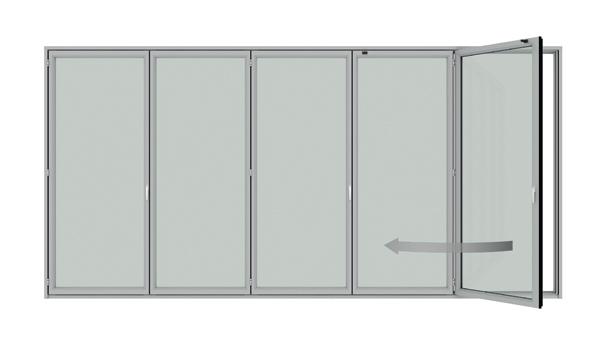 Detail Falt-Schiebesystem Sunflex