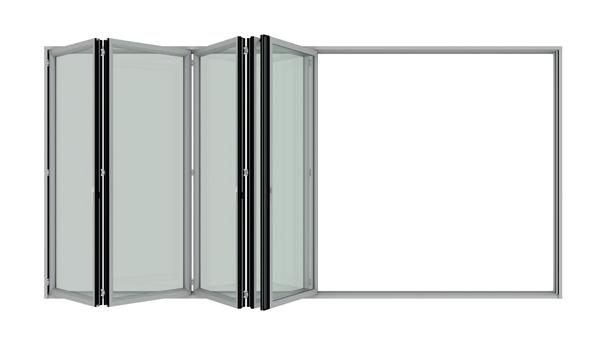 Detail-Falt-Schiebesystem Sunflex