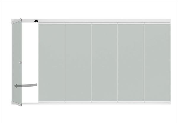 Details Alu-Glas-Siebe-System Sunflex