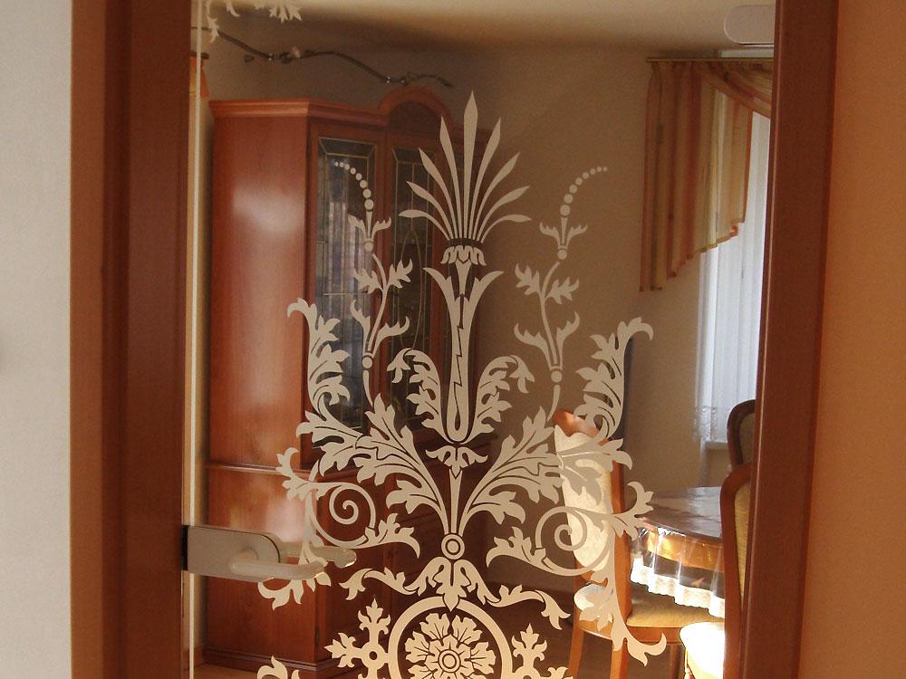 Wohnraumtür mit Sandstrahl-Motiv | Fenster Schilling